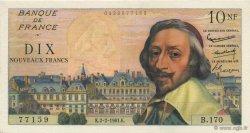 10 Nouveaux Francs RICHELIEU FRANCE  1961 F.57.14 SUP+