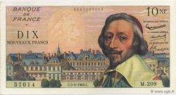 10 Nouveaux Francs RICHELIEU FRANCE  1962 F.57.18 SUP à SPL