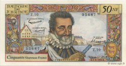50 Nouveaux Francs HENRI IV FRANCE  1959 F.58.01 SPL