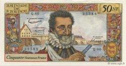 50 Nouveaux Francs HENRI IV FRANCE  1961 F.58.06 SUP