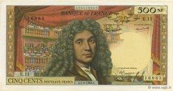 500 Nouveaux Francs MOLIÈRE FRANCE  1963 F.60.05 pr.SPL