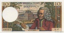 10 Francs VOLTAIRE FRANCE  1963 F.62.05 SUP à SPL
