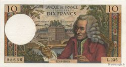 10 Francs VOLTAIRE FRANCE  1966 F.62.21 SUP à SPL