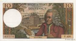 10 Francs VOLTAIRE FRANCE  1968 F.62.34 SUP+