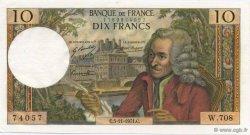 10 Francs VOLTAIRE FRANCE  1971 F.62.52 SPL