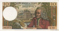 10 Francs VOLTAIRE FRANCE  1972 F.62.55 SUP