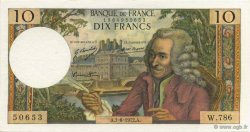 10 Francs VOLTAIRE FRANCE  1972 F.62.57 SUP+