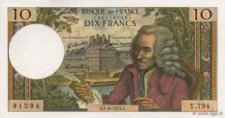 10 Francs VOLTAIRE FRANCE  1972 F.62.57 pr.NEUF