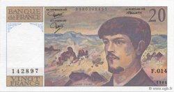 20 Francs DEBUSSY FRANCE  1984 F.66.05 SPL+