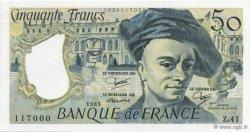 50 Francs QUENTIN DE LA TOUR FRANCE  1985 F.67.11 SPL