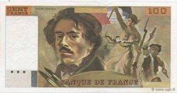 100 Francs DELACROIX modifié FRANCE  1978 F.69.01 SUP