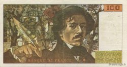 100 Francs DELACROIX FRANCE  1978 F.69.01d TTB