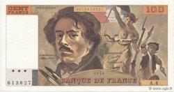 100 Francs DELACROIX modifié FRANCE  1978 F.69.01c SUP
