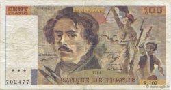100 Francs DELACROIX modifié FRANCE  1988 F.69.10 TB