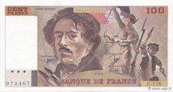100 Francs DELACROIX imprimé en continu FRANCE  1990 F.69bis.02c SPL+
