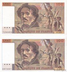 100 Francs DELACROIX imprimé en continu FRANCE  1993 F.69bis.05b SPL