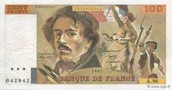 100 Francs DELACROIX uniface FRANCE  1985 F.69U.03 pr.SPL