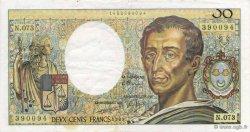 200 Francs MONTESQUIEU FRANCE  1989 F.70.09 TTB+