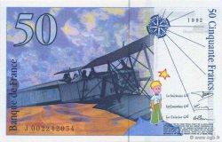 50 Francs SAINT-EXUPÉRY mouton en haut FRANCE  1992 F.72bis.01 NEUF