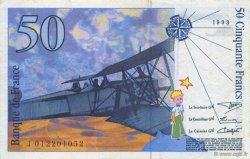 50 Francs SAINT-EXUPÉRY sans STRAP FRANCE  1993 F.72qua.02 pr.SPL