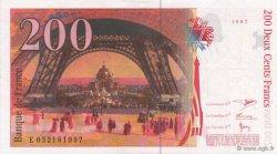 200 Francs EIFFEL sans STRAP FRANCE  1997 F.75bis.04 SUP