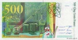 500 Francs PIERRE ET MARIE CURIE sans STRAP FRANCE  1994 F.76qua.01 SUP+