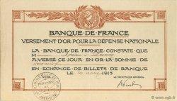 60 Francs FRANCE régionalisme et divers  1915  SUP