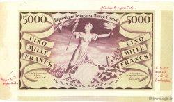5000 Francs Liberté 1943 Non émis FRANCE  1943 VF.08.00 SPL