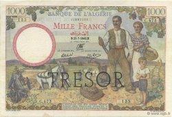 1000 Francs ALGÉRIE SURCHARGÉ FRANCE  1943 VF.10.01 TTB