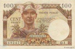 100 Francs TRÉSOR PUBLIC FRANCE  1955 VF.34.01 pr.NEUF