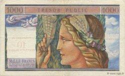 10 NF sur 1000 Francs TRÉSOR PUBLIC FRANCE  1960 VF.38.01 TTB+