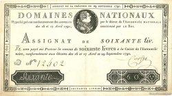 60 Livres FRANCE  1790 Laf.130 TTB