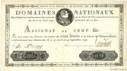 100 Livres FRANCE  1790 Laf.134 TTB