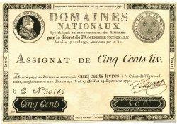 500 Livres FRANCE  1790 Laf.135x SUP