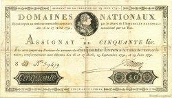 50 Livres FRANCE  1791 Laf.138 TTB