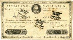 100 Livres FRANCE  1791 Laf.140x TTB