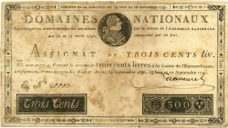 300 Livres FRANCE  1791 Laf.143x TB
