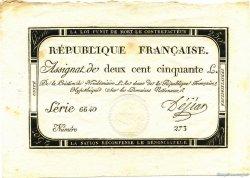 250 Livres FRANCE  1793 Laf.170 SPL
