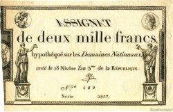 2000 Francs FRANCE  1795 Laf.176 SUP