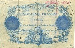 25 Francs Clermont-Ferrand - FAUX FRANCE  1871 F.A44.01 TB