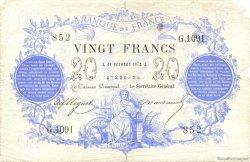 20 Francs 1871 FRANCE  1872 F.A46.03 B