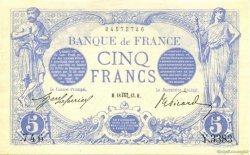 5 Francs BLEU FRANCE  1913 F.02.21 SPL