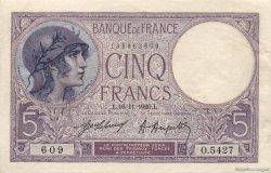5 Francs VIOLET FRANCE  1920 F.03.04 pr.NEUF