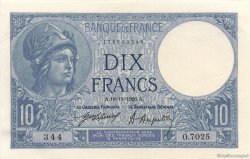 10 Francs MINERVE FRANCE  1920 F.06.04 SPL