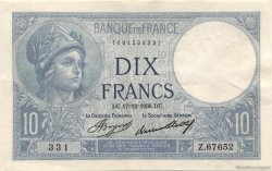10 Francs MINERVE FRANCE  1936 F.06.17 SUP+