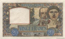 20 Francs SCIENCE ET TRAVAIL FRANCE  1941 F.12.18 SPL