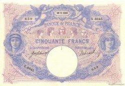 50 Francs BLEU ET ROSE FRANCE  1916 F.14.29 TTB+
