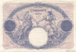 50 Francs BLEU ET ROSE FRANCE  1922 F.14.35 TTB à SUP