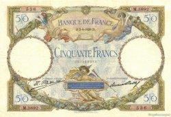 50 Francs LUC OLIVIER MERSON FRANCE  1929 F.15.03 TTB+
