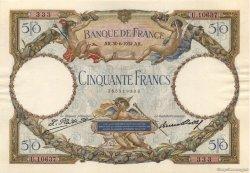 50 Francs LUC OLIVIER MERSON type modifié FRANCE  1932 F.16.03 SPL